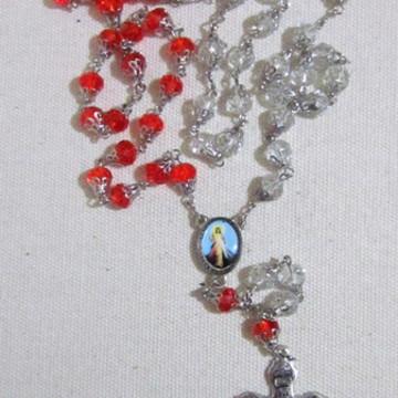 Terço Cristal Jesus Misericordioso R178
