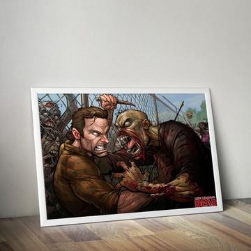 Poster The Walking dead com moldura