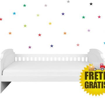 Adesivos 50 estrelas coloridas