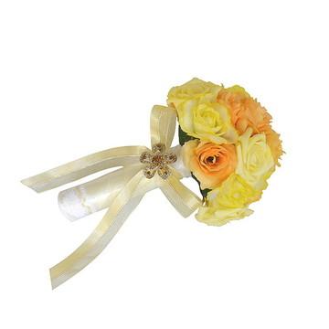 Delicado Buquê de Noiva Com Rosas
