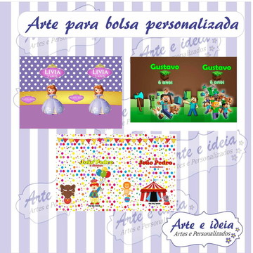 Kit artes personalizadas p/sacola