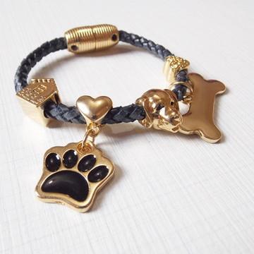 Pulseira Love Dog Preta
