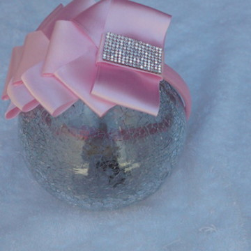 Tiara com fita de cetim rosa