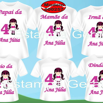 Camisetas Aniversario da Monster high