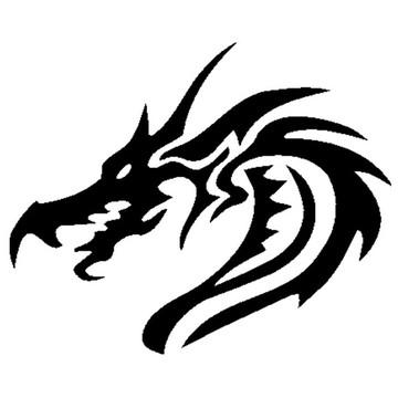 Adesivo dragão carro e moto