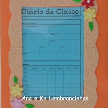 Capa de Diario de Classe em EVA