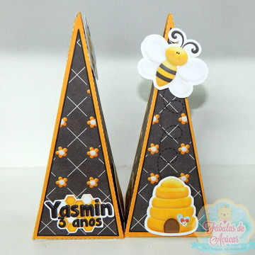 Caixa pirâmide Abelhinha