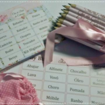 kit Bingo Chá de Bebê