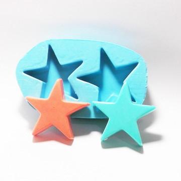 Estrela 2 Cavidades - molde de silicone