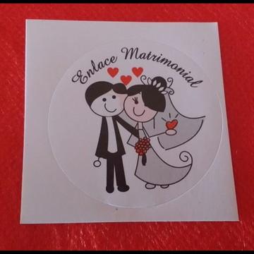 Adesivos Casamento - pcte 20 unid