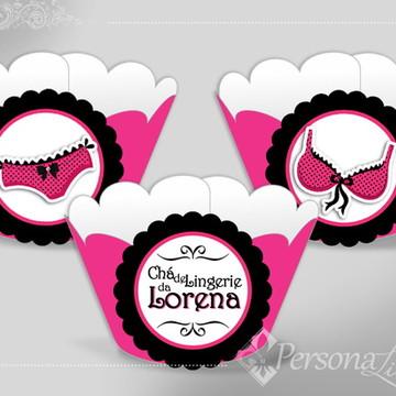 Wrapper Cupcake Chá Lingerie Pink