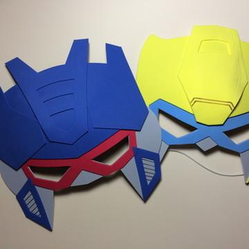 Mascaras em EVA - tema transformers