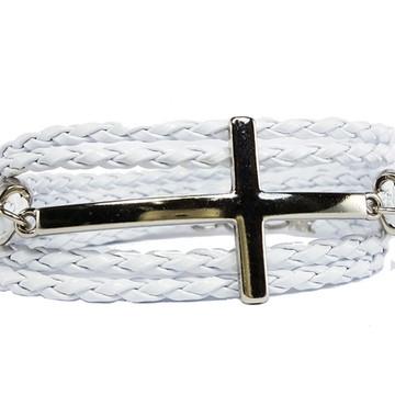 Pulseira Cruz Espírito Branco