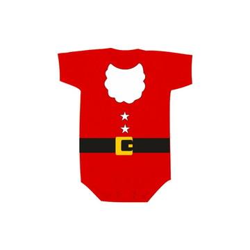 Body OU Camiseta INFANTIL Papai Noel Estrelinha Algodão