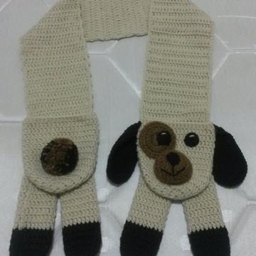 5edc88fa0 Cachecol cachorrinho com bolso