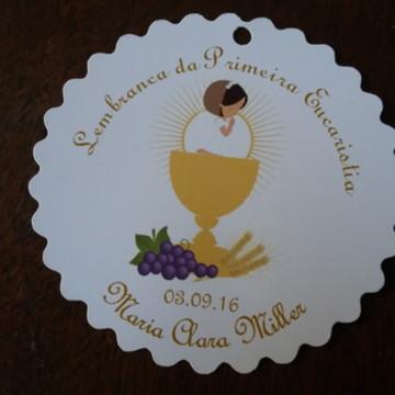 Tag p/ lembrancinha Primeira Eucaristia