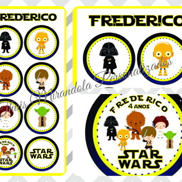 Cartela de Adesivos Star Wars