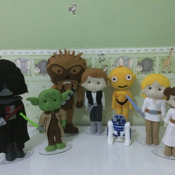 Kit personagens Star Wars feltro