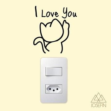 Adesivo Cat Love A0195