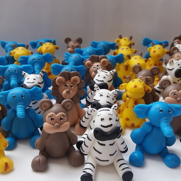 Miniaturas Festa Safari em Biscuit