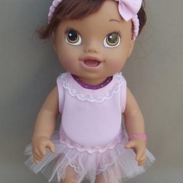 Look Bailarina Baby Alive Meu Lanchinho
