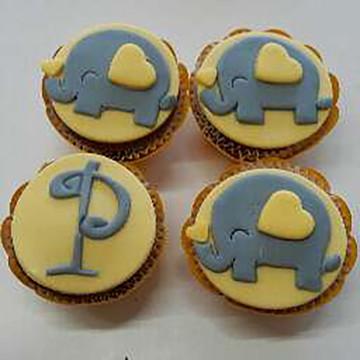 Mini Cupcake Elefantinho