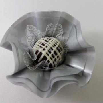 Forminha de Papel de Seda - Prata