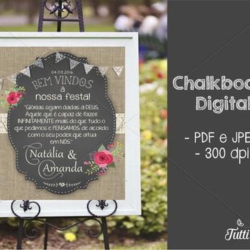 Chalkboard Boas Vindas Digital