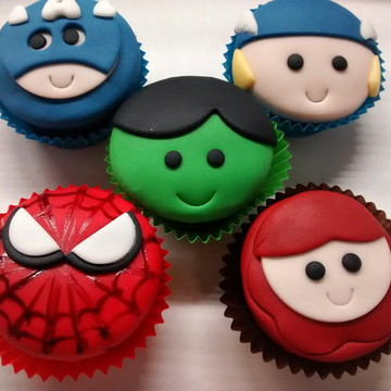 Mini cupcake Super Heróis