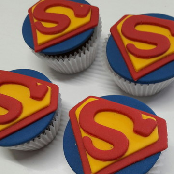 Mini cupcake Super Homem