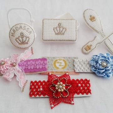 Kit acessórios Baby luxo Pérola