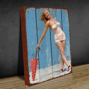Quadro Decorativo Marilyn Umbrella