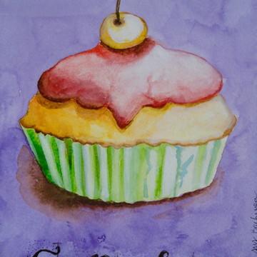 Ilustração Cupcake 2 , DE VERDADE! NÃO É IMPRESSÃO!