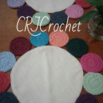 Sousplat tecido e crochet