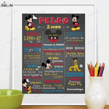 Chalkboard Quadro Mickey Digital