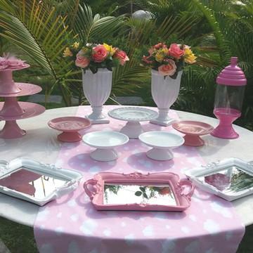 Kit chá de Bebê Rosa - LOCAÇÃO