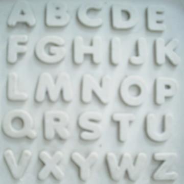Molde de Silicone Alfabeto 2