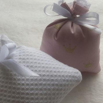 Lembrancinha sachê perfumado rosa