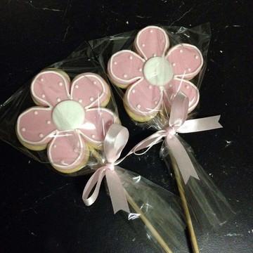 Pirulito biscoito flor