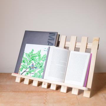 Suporte p/ Livros e Leitura em Madeira Pinus c/ regulagem