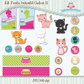 Kit Festa Infantil Gatos II