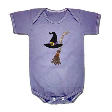 Body p/ Bebê Acessórios de Bruxa