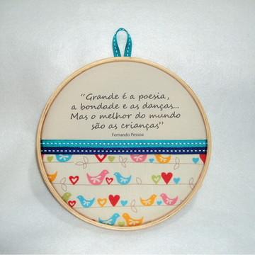 Quadro decorativo Poema Fernando Pessoa