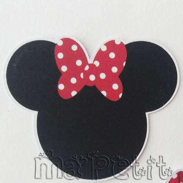 Aplique Recorte Contorno Cabeça Minnie