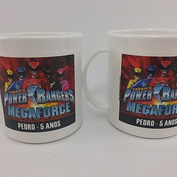 Caneca Plastica Lembrança Power Rangers
