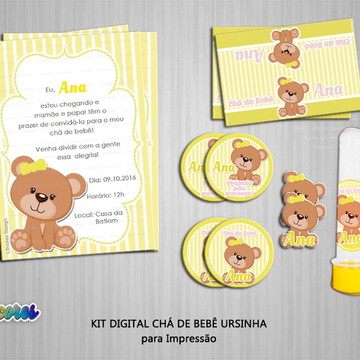 Kit digital Chá de Bebê Ursinha
