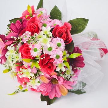 BUQUÊ DAMINHA PINK FLOWERS II