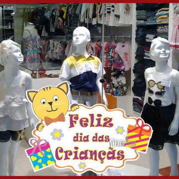 Adesivos de vitrine Dia das Criançãs