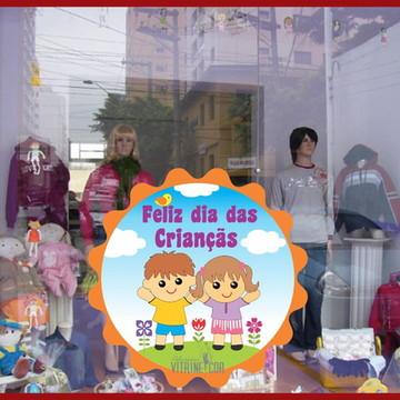 Adesivo de Vitrine Dia das Criançãs