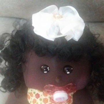 Boneca de pano bebe negra